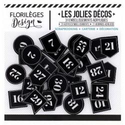 Les Jolies Décos Florilèges - Etiquettes numérotées