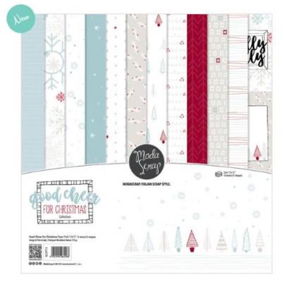 ModaScrap - Paper Pack 30.5 cm x 30.5 cm - Noël Bonne Humeur