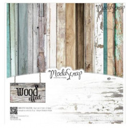 ModaScrap - Paper Pack 30.5 cm x 30.5 cm - Effet Bois