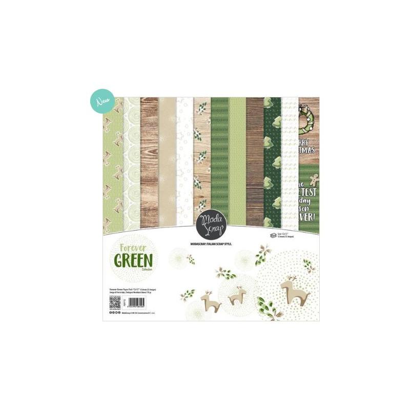 ModaScrap - Paper Pack 15.2x15.2 - Forever Green