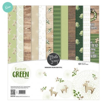 ModaScrap - Paper Pack 15.2x15.2 - Forever Green