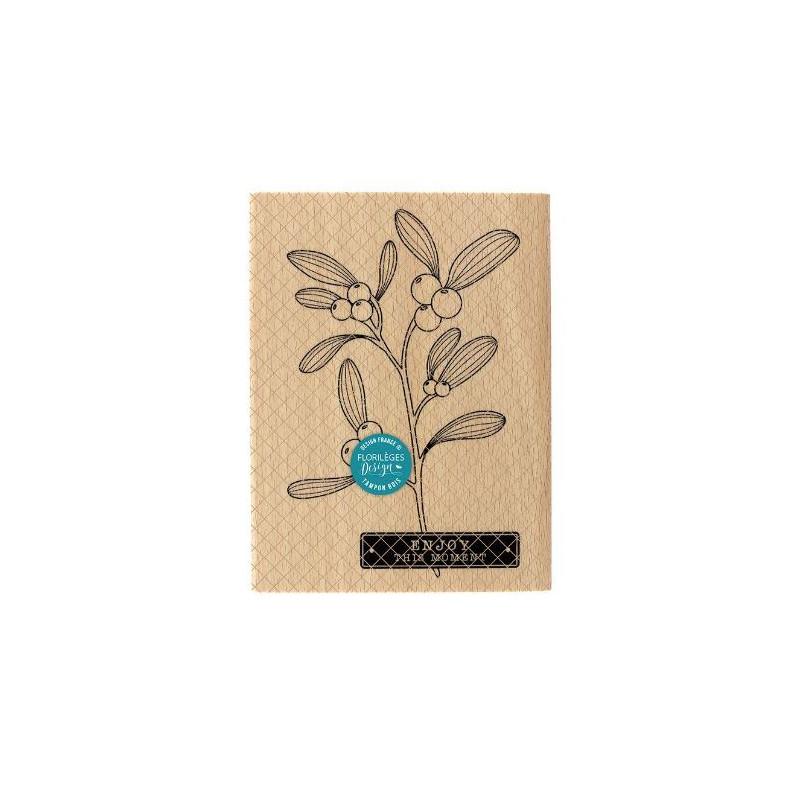 Tampon bois - Florilèges - Branche de gui