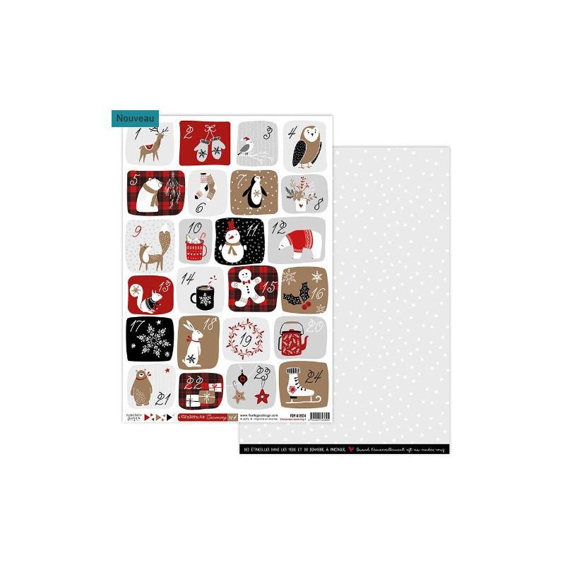 Papier Cocooning - Florilèges - Christmas Cocooning - Feuille 4