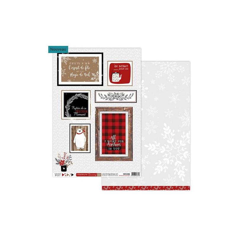 Papier Cocooning - Florilèges - Christmas Cocooning - Feuille 6