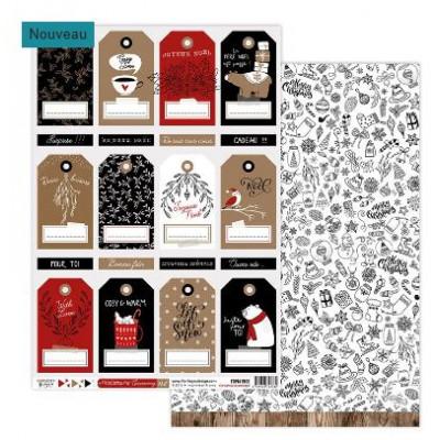 Papier Cocooning - Florilèges - Christmas Cocooning - Feuille 8