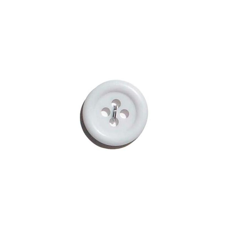 Lot de 4 boutons 1.4 cm - Blanc