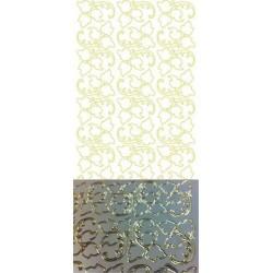 Stickers Peel-off - Feuilles - Argent miroir