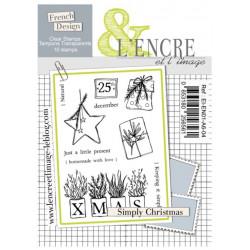 Tampons transparents L'Encre et l'image - Simply christmas -