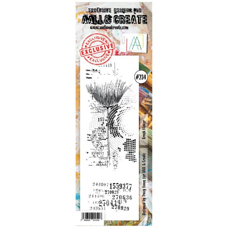 AALL & Create Stamp -234 - Fleur codée
