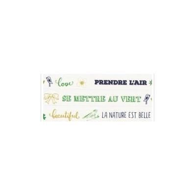 Masking Tape Les Ateliers de Karine - La nature est belle