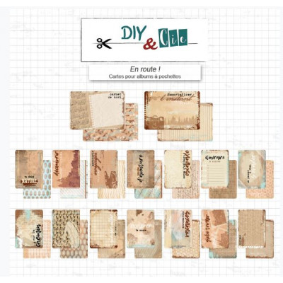 Cartes pour albums En route! - DIY and Cie