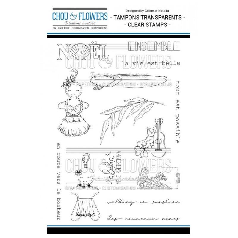 Tampons Clear - Chou & Flowers - Pain d'épices