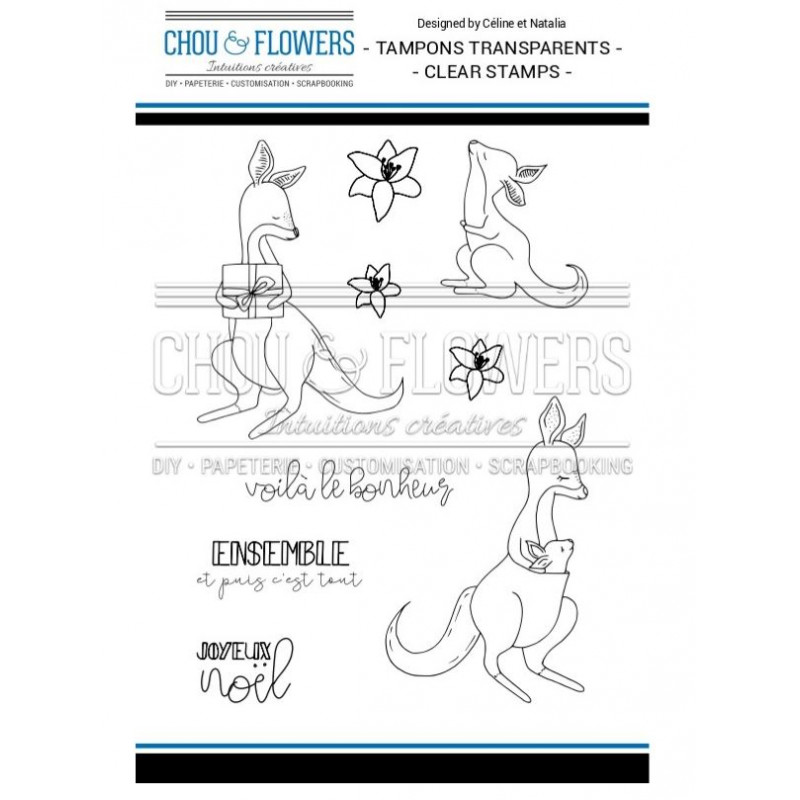 Tampons Clear - Chou & Flowers - Famille Kangourou