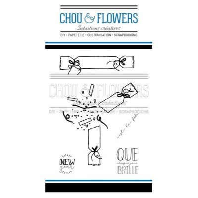 Tampons Clear - Chou & Flowers - Crackers