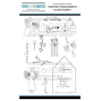 Tampons Clear - Chou & Flowers - Les anges
