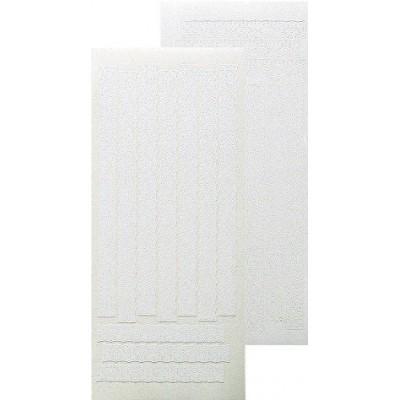 Stickers Peel-off - Ligne dentelée - Blanc