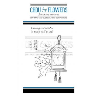 Tampons Clear - Chou & Flowers - L'horloge