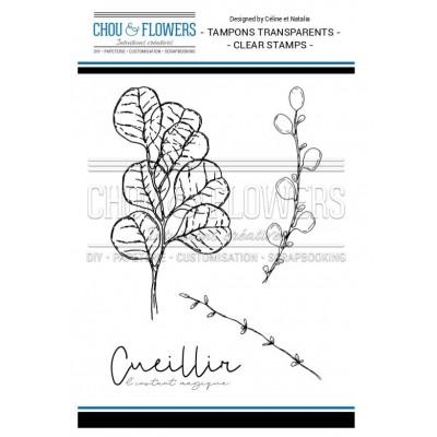 Tampons Clear - Chou & Flowers -Feuilles légères