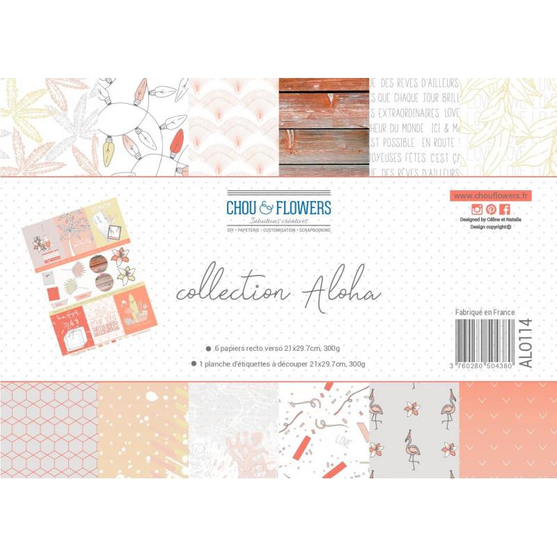 Papier A4 - Chou & Flowers - Collection Aloha