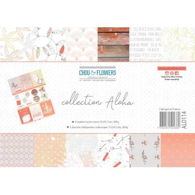 Papier A4 - Chou & Flowers - Collection Aloha