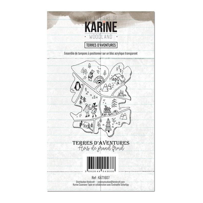Tampons clear Les Ateliers de Karine - Woodland - Terres d'aventures