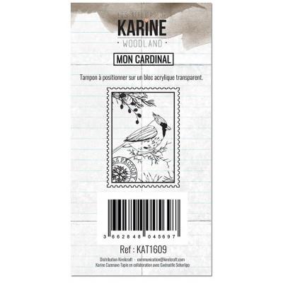 Tampons clear Les Ateliers de Karine - Woodland - Mon cardinal