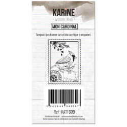 Tampons clear Les Ateliers de Karine - Woodland - Mon cardinal-