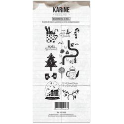 Tampons clear Les Ateliers de Karine - Woodland - Mignonneries de NOEL