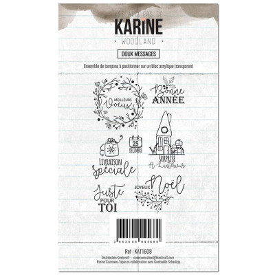Tampons clear Les Ateliers de Karine - Woodland - Doux messages