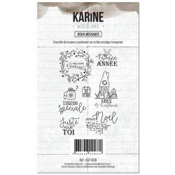Tampons clear Les Ateliers de Karine - Woodland - Doux messages