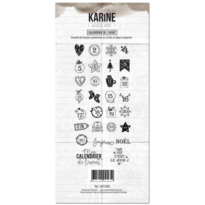 Tampons clear Les Ateliers de Karine - Woodland - Calendrier de l'Avent