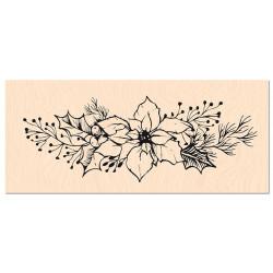 Tampon bois Les Ateliers de Karine - Fleur de Poinsettia