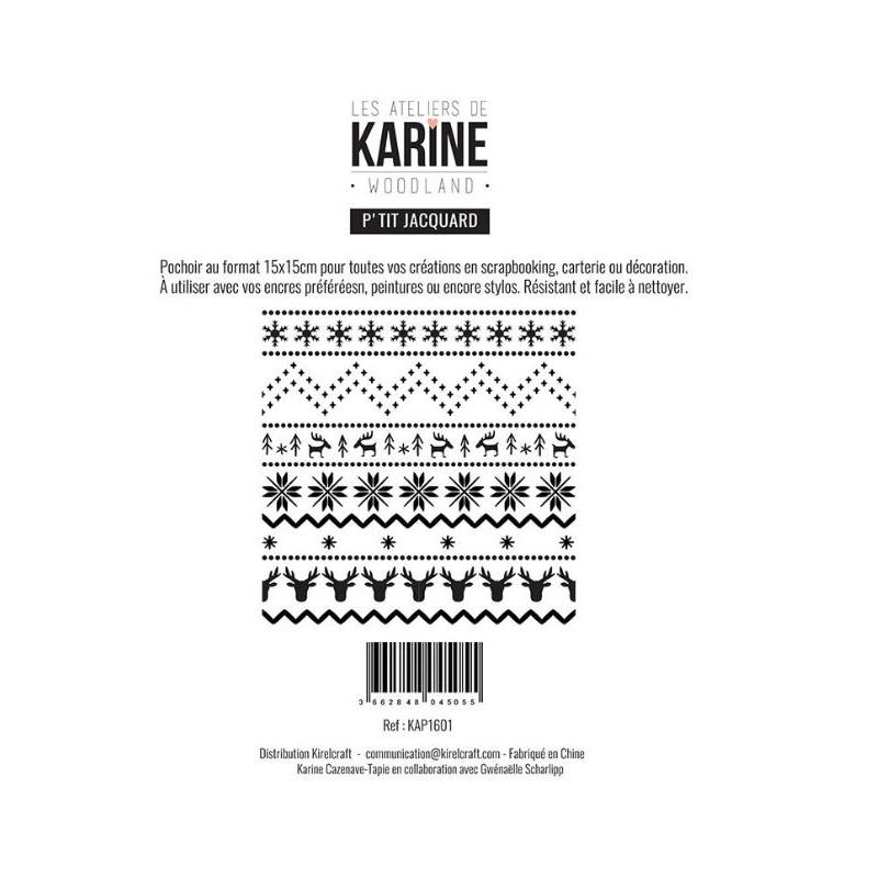 Pochoir Les Ateliers de Karine - Woodland - P'tit Jacquard