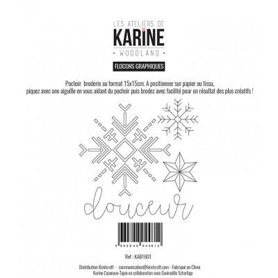 Pochoir Les Ateliers de Karine - Woodland - Flocons graphiques