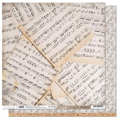 Pack 6 feuilles Papier 30x30 - Les Ateliers de Karine - Woodland