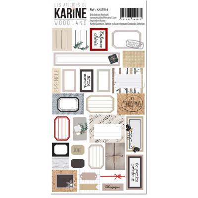 Les Ateliers de Karine - Woodland - Stickers - Etiquettes