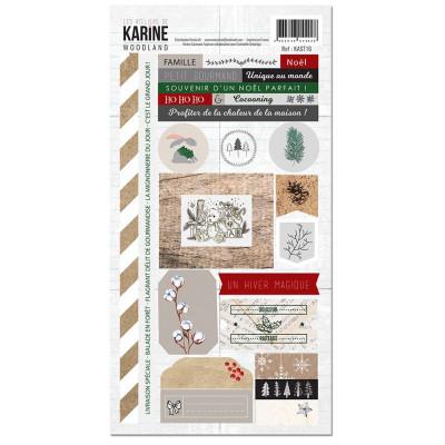 Les Ateliers de Karine - Woodland - Stickers - 15 x 30