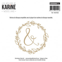 Dies Les Ateliers de Karine - Woodland - Couronne &