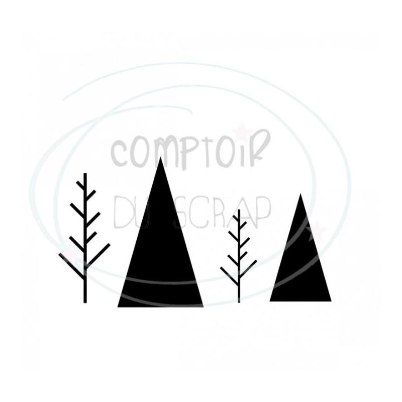 Comptoir Scrap - Die Duo de sapin graphique