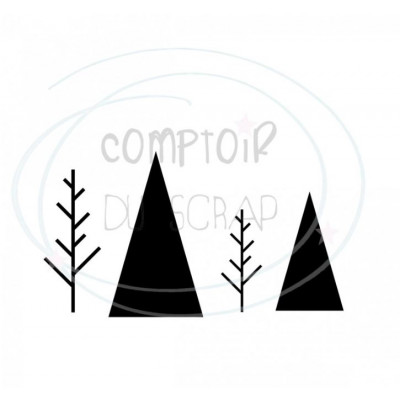 Comptoir Scrap - Die Duo de sapin graphique