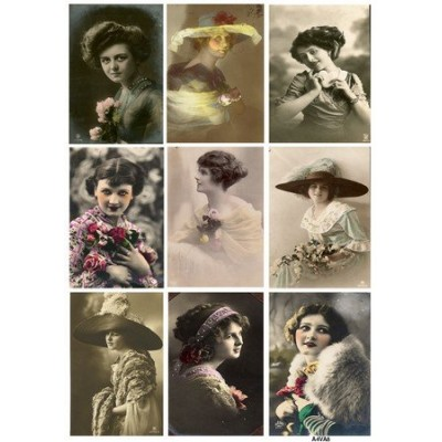 Feuille d'images Vintage - Ladies