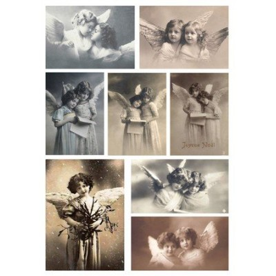Feuille d'images Vintage - Angels