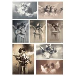 Feuille d'images Vintage - Angels