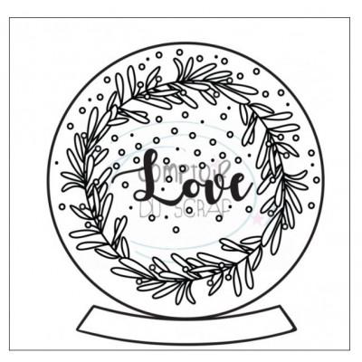 Comptoir Scrap - Tampon - Boule à neige LOVE