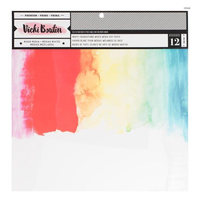 Pack 30 x 30 Papiers blancs - 300g - Vicki Boutin