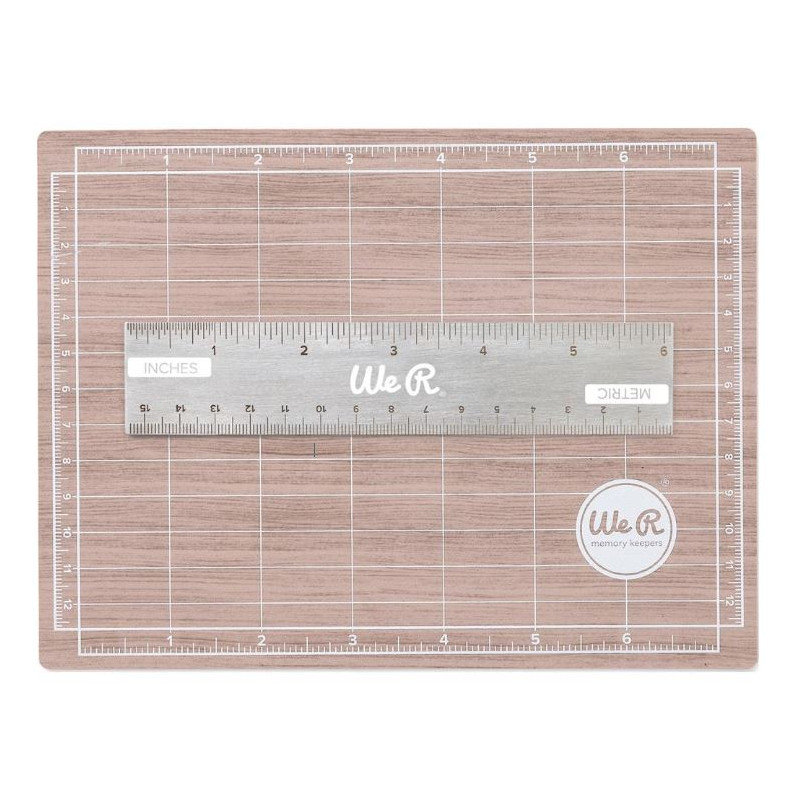 Tapis de coupe Magnétique et Règle 15cm - Magnetic cutting mat - We R memory keepers