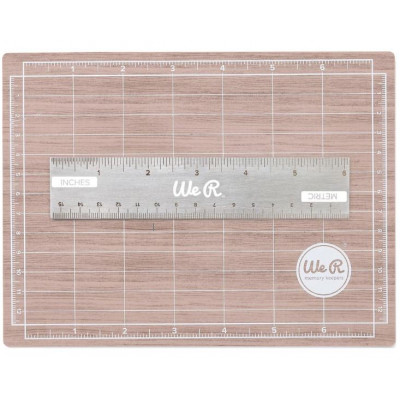 Tapis de coupe Magnétique et Règle 15cm - Magnetic cutting mat - We R memory keepers