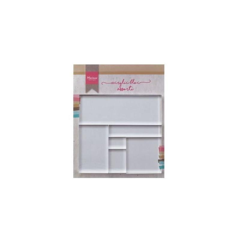 Set de 6 blocs acryliques - Marianne Design