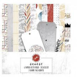 Pack Papiers - Collection Grunge - Mes Ptits Ciseaux