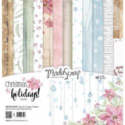 ModaScrap - Paper Pack 30.5 cm x 30.5 cm - Vacances Noël